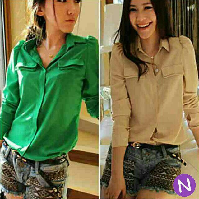harga blouse  bershka / katun rayo / dress maxi kemeja hijab jaket wanita Tokopedia.com