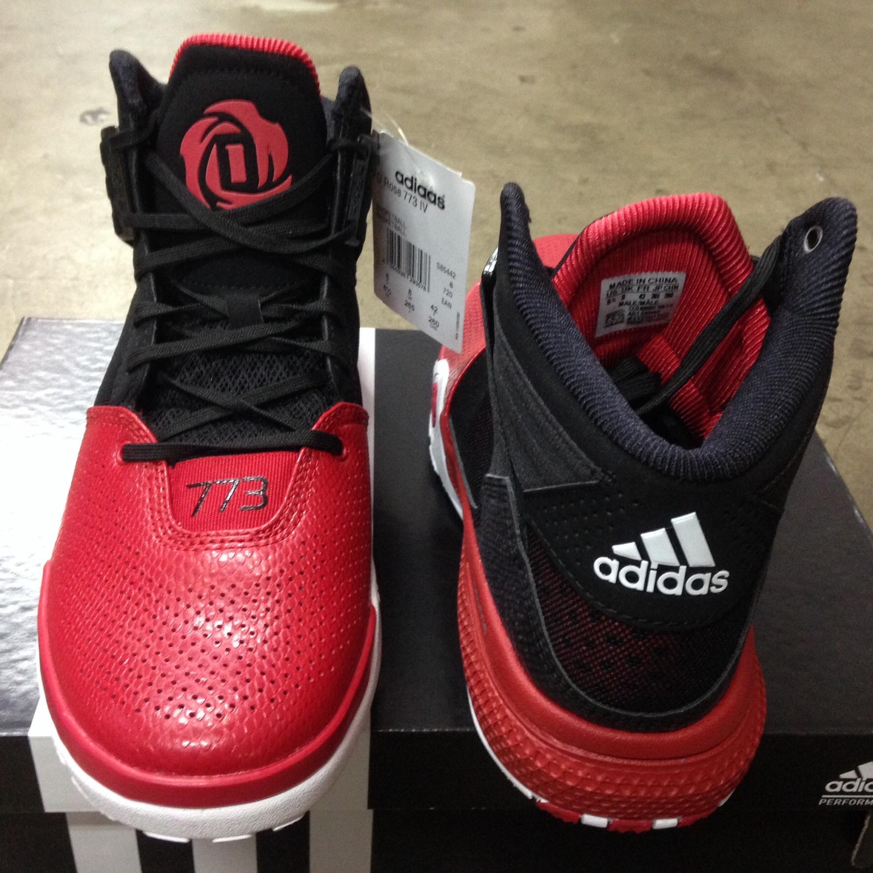new concept 1d529 e6069 ... usa spatu basket adidas d rose 773 iv black red size 47 1 3. cc1b0