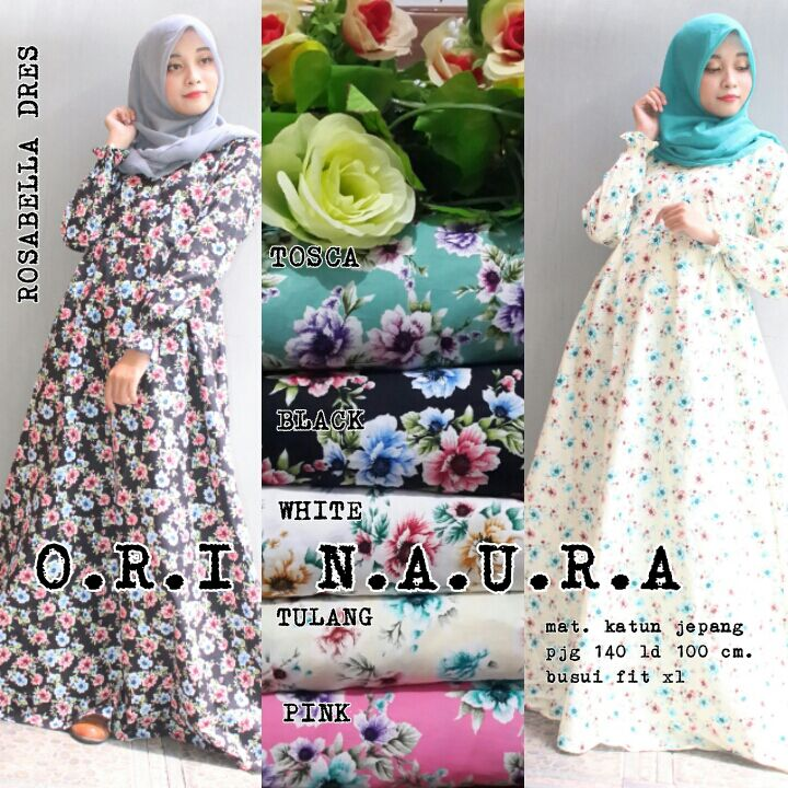 SUPPLIER HIJAB REALPICT : rosabella dres by naura