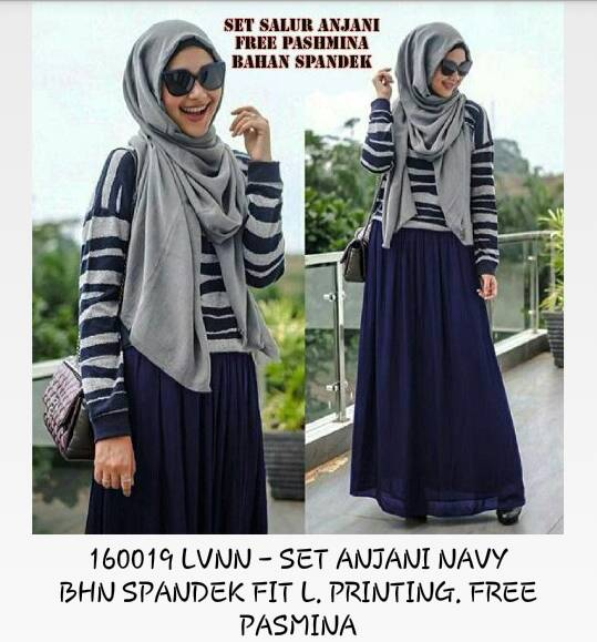 set anjani navy hijab