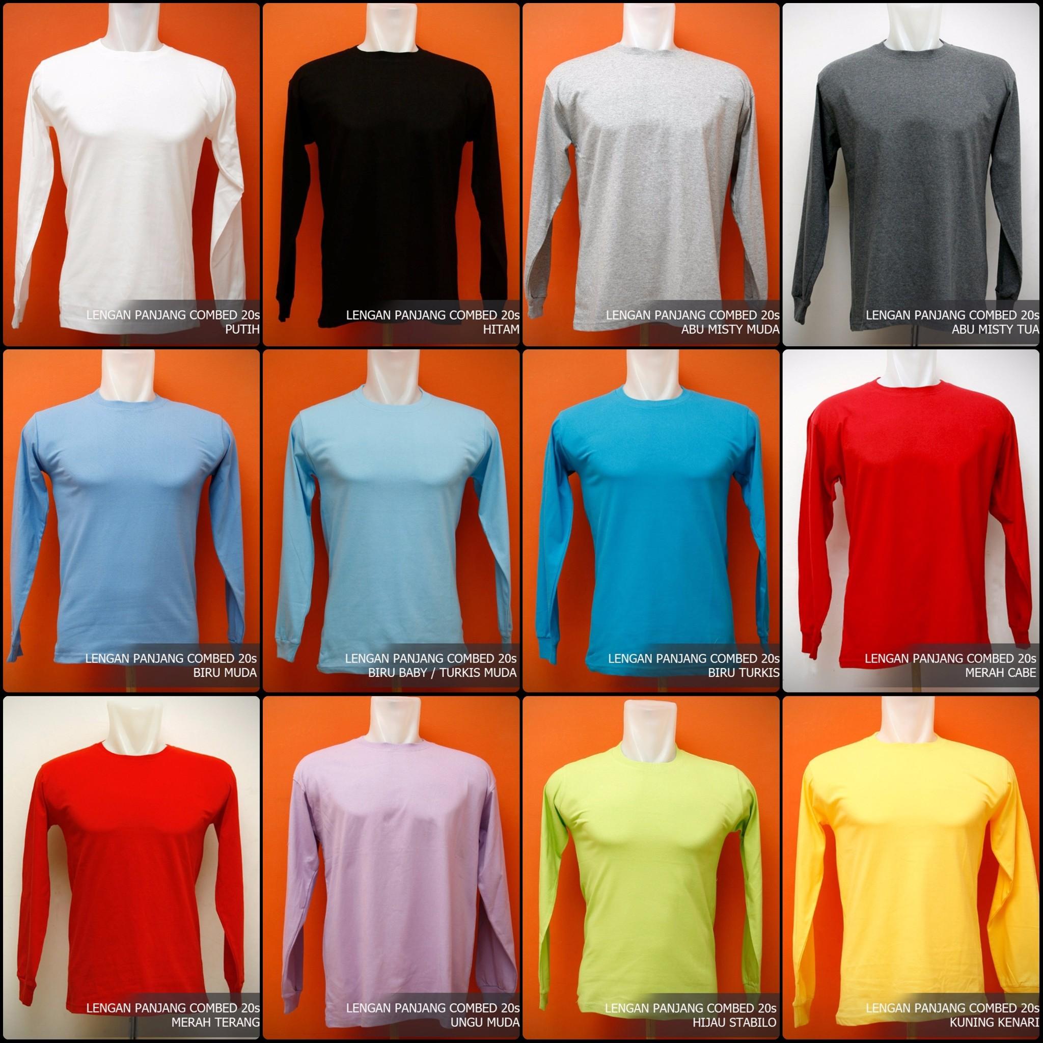 Jual Kaos Polos Murah Jakarta O Neck Lengan Panjang Cotton Combed Yellow Baby 20s 30s 4zone Id Tokopedia