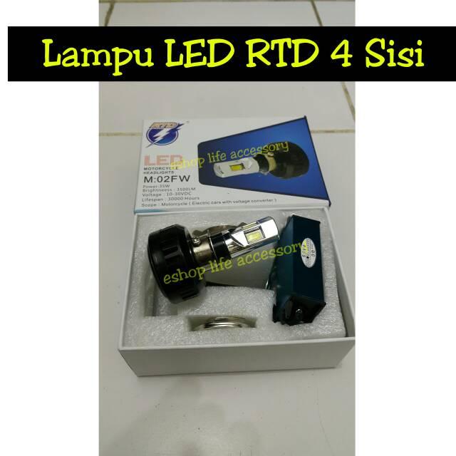 harga Lampu utama headlamp Led RTD 4Sisi 4 sisi mata motor Tokopedia.com