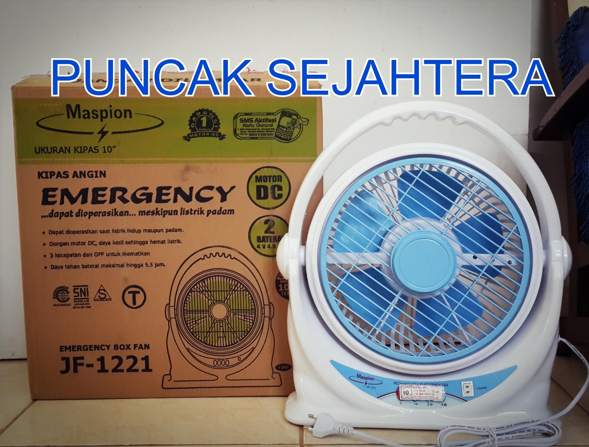 harga Kipas Emergency cas ulang Maspion Box Fan JF-1221 (Garansi 1 thn) Tokopedia.com