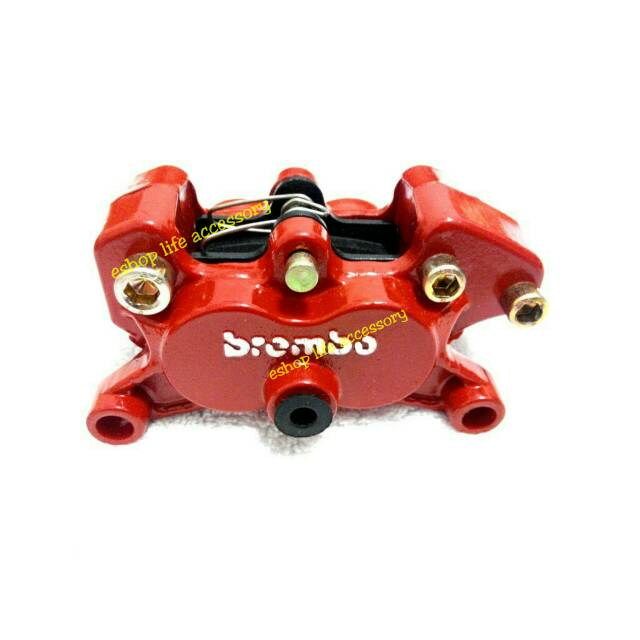 Jual OTOmobil Brake Disc Cover Brembo Chrome Emboss Timbul Rem Source · Kaliper caliper pala babi rem cakram BREMBO merah