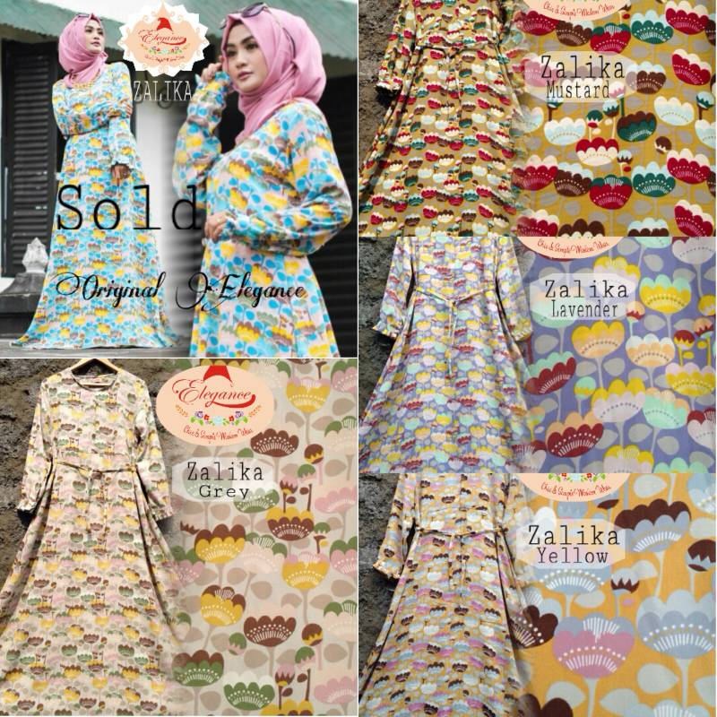 ZALIKA DRESS /'SUPPLIER BAJU HIJAB
