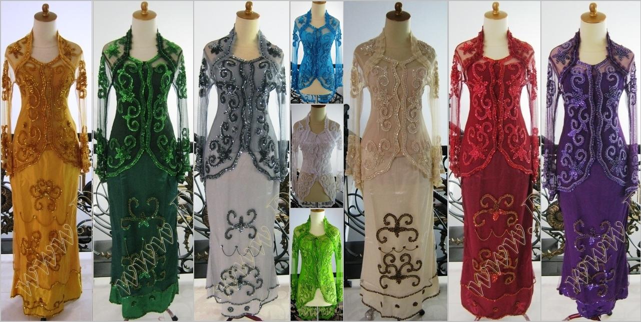 Jual Kebaya Baju Seragam Modern Lengan Panjang Wisuda Pesta Tile