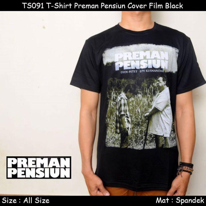 harga Kaos / Tshirt Preman Pensiun Cover Film Black Tokopedia.com