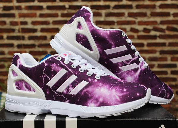 Jual sepatu Adidas ZX Flux Women Ungu Putih (keren ded4853f0a