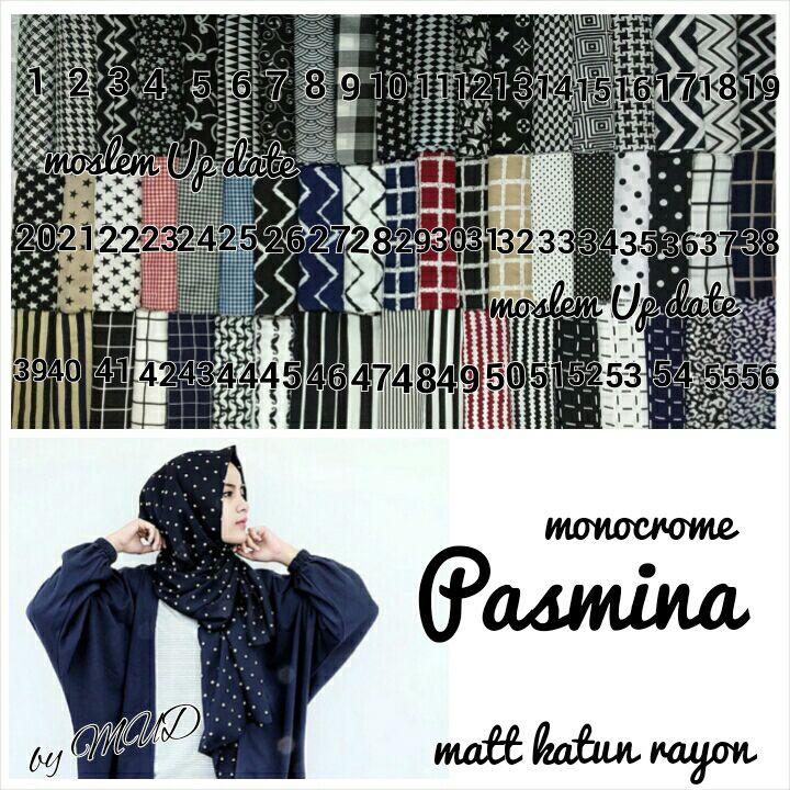 GRANDE HIJAB SOLO: PASHMINA/ PASMINA MONOCHROME HIJAB SERIES BARU