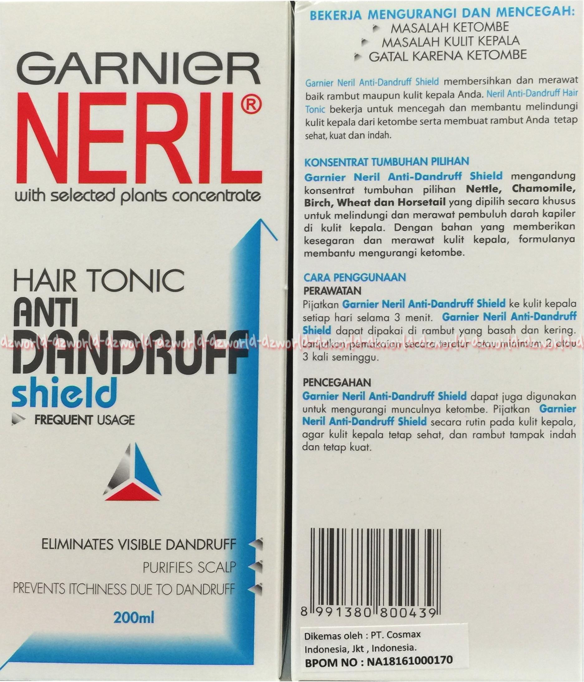 Neril Shampoo Anti Dandruff Shield 200ml Daftar Harga Terbaru Garnier Loss Guard Tonic 200 Ml Jual Hair Ketombe Biru Dz World