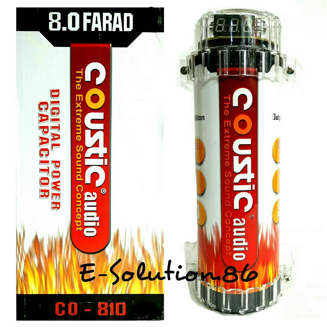Jual Capasitor Bank Mobil Coustic Audio Co 810 8farad Power Kapasitor Electronic Solution 86 Tokopedia