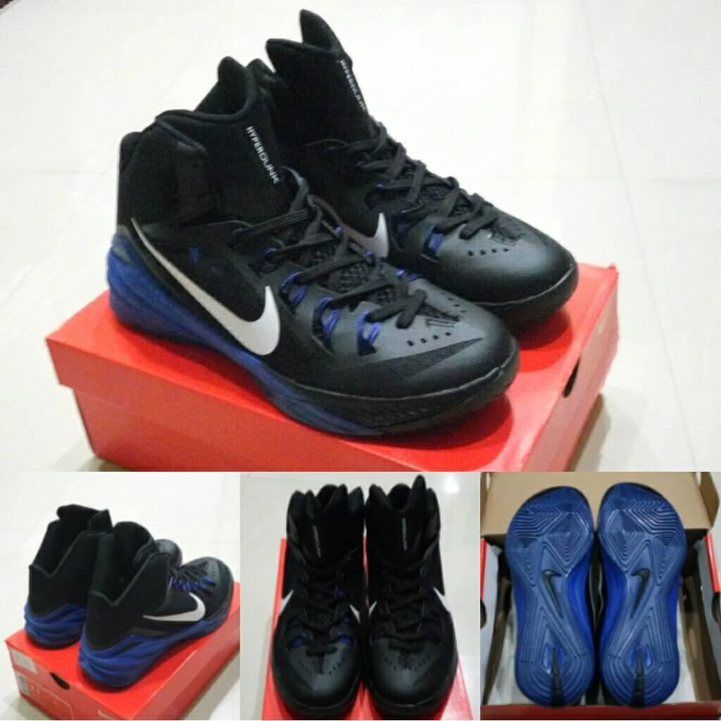 big sale bfbd8 067e0 ... Sepatu Basket Nike Zoom Hyperfuse 2014 Sepatu Basket Nike Hyperdunk 2014  Black Blue Biru Hitam .