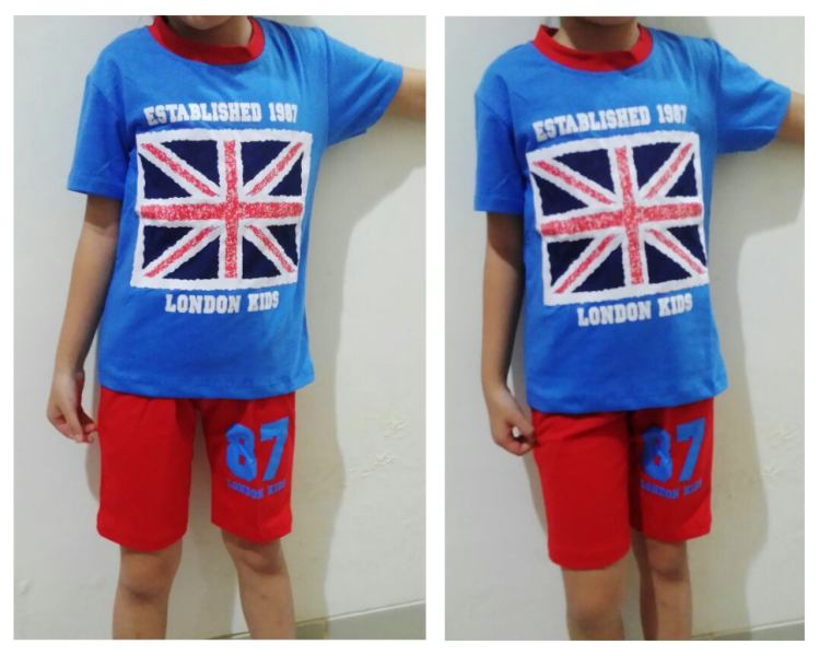 STKDL212 - Setelan Anak Laki London Flag 87 Murah