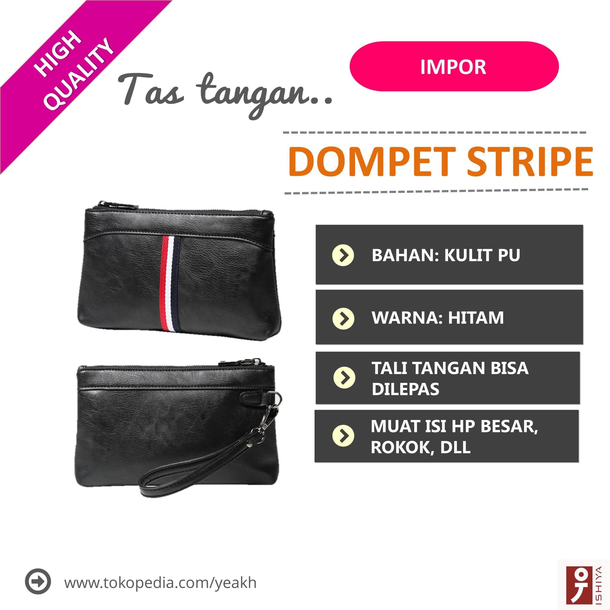 Jual Tas Tangan Pria /Hand Bag /Clutch Korea Impor Kulit Original. -STRIPE