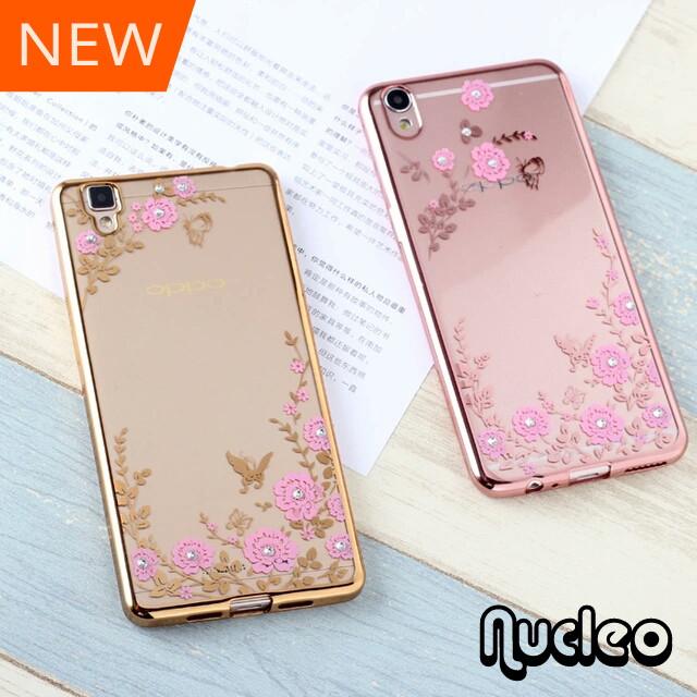 Jual Casing Luxury Softcase Flower Oppo Neo5 Neo 5 Soft Case Diamond Bunga - Nucleo Online