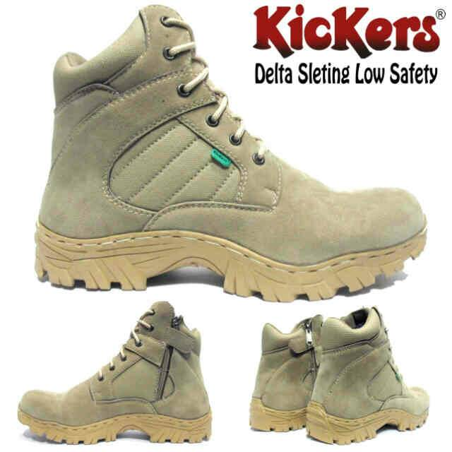 sepatu boot safety kickers delta sleting low Murah