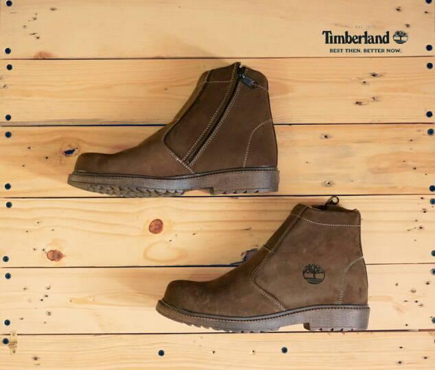 sepatu boot safety timberland zipper brown Murah