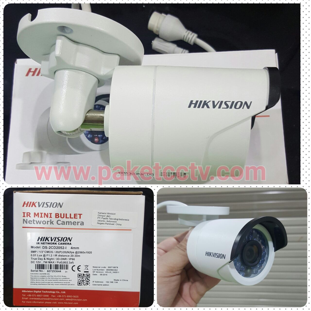 kamera ip hikvision 5mp outdoor ds2cd2052 i