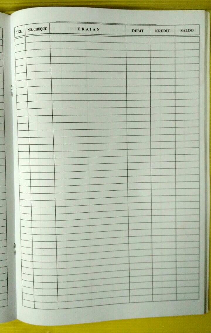 KNI Buku Bank Ukuran Folio