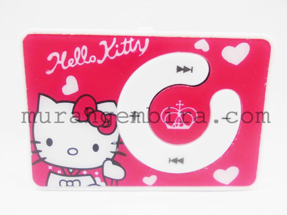 MP3 Mini Player Karakter Hello Kitty - Merah