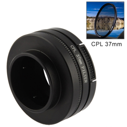 CPL 37mm Lens Filter With Cap For Gopro Hero3 + / Hero3