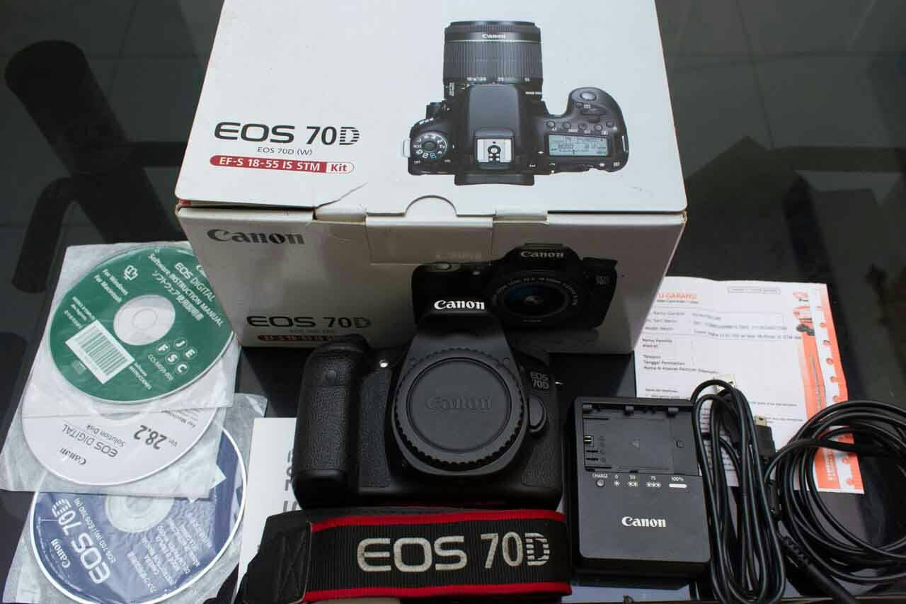 Jual Promo Camera Canon Eos 70d Fullset Lensa 18 135mm Pind13 Bbb 55 Is Stm Dslr Kit 4e Bintang Selvi7723 Tokopedia