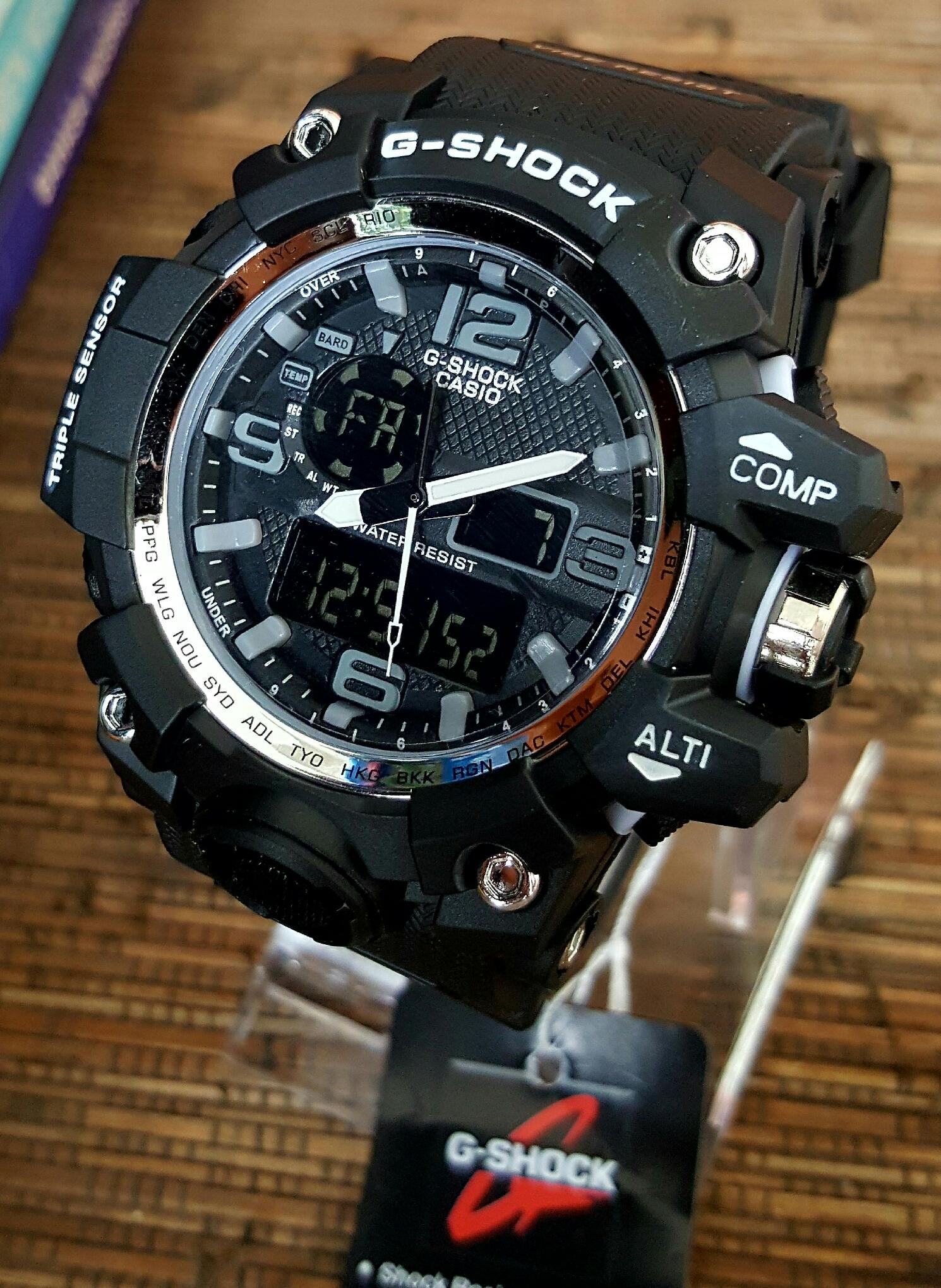 Jam Tangan Pria G-Shock GWG-1000 Black Dial White