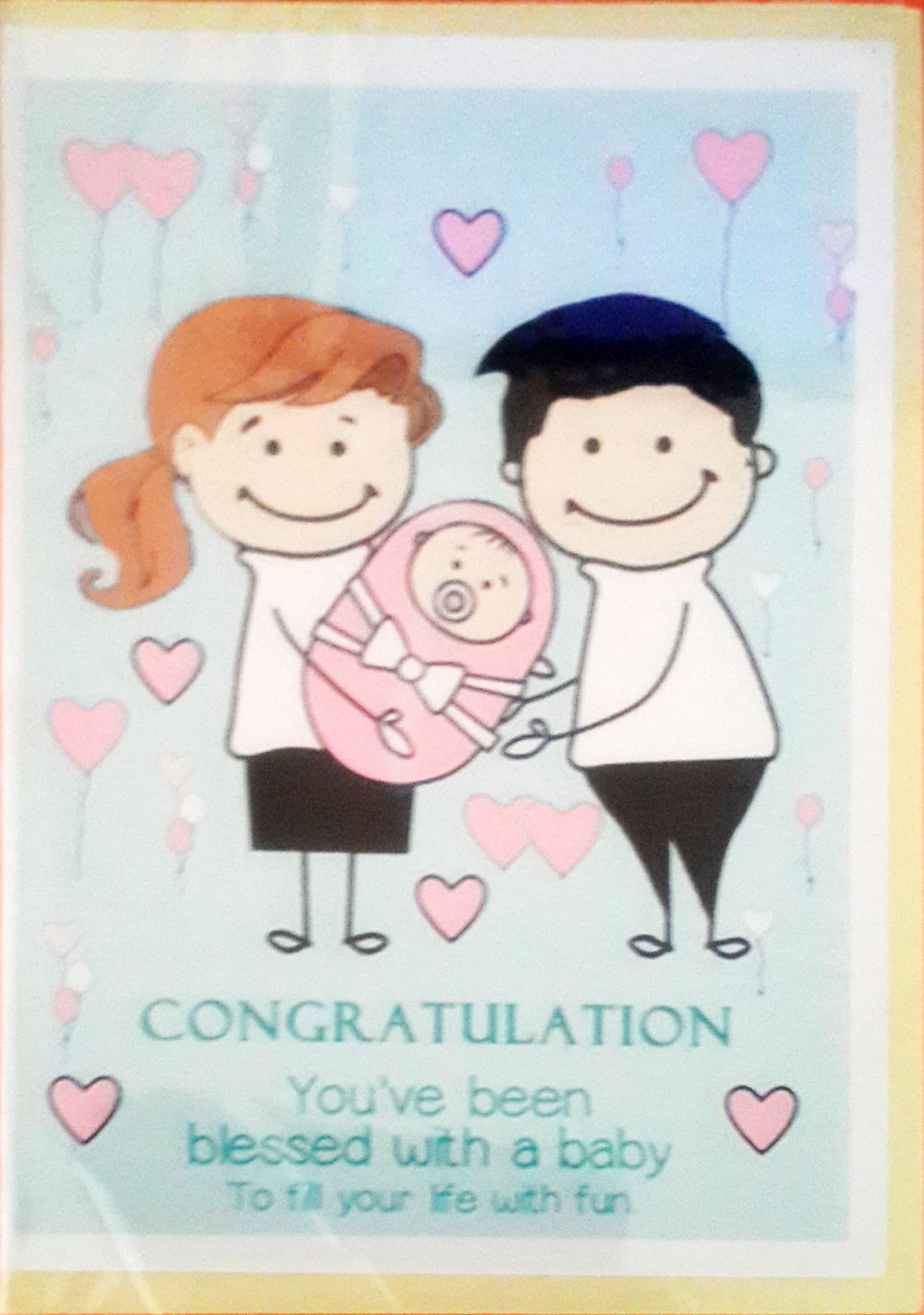 jual kartu ucapan tema kelahiran bayi   t web store