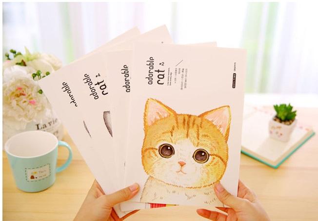 Cat Buku Tulis Catatan Agenda B5 Notebook Agenda Bergaris Motif Kucing