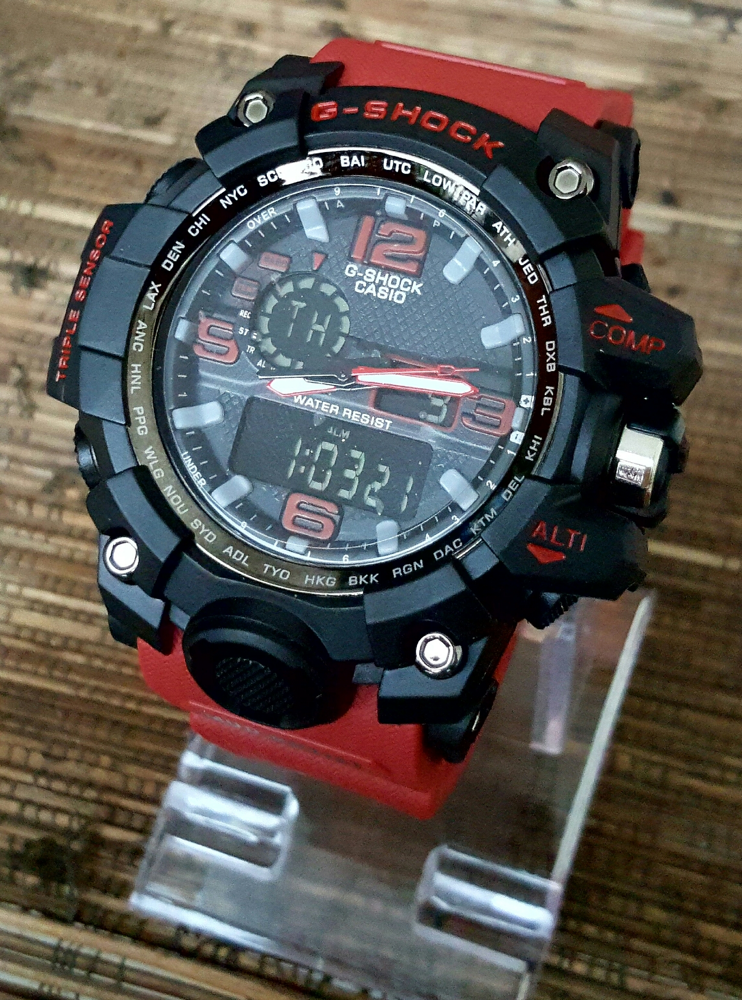 Jam Tangan Pria G-Shock GWG-1000 Black Red