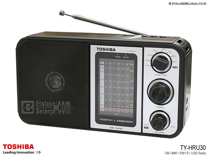 TOSHIBA TY-HRU30 8 BANDS PORTABLE RADIO WITH MP3 PLAYER Murah
