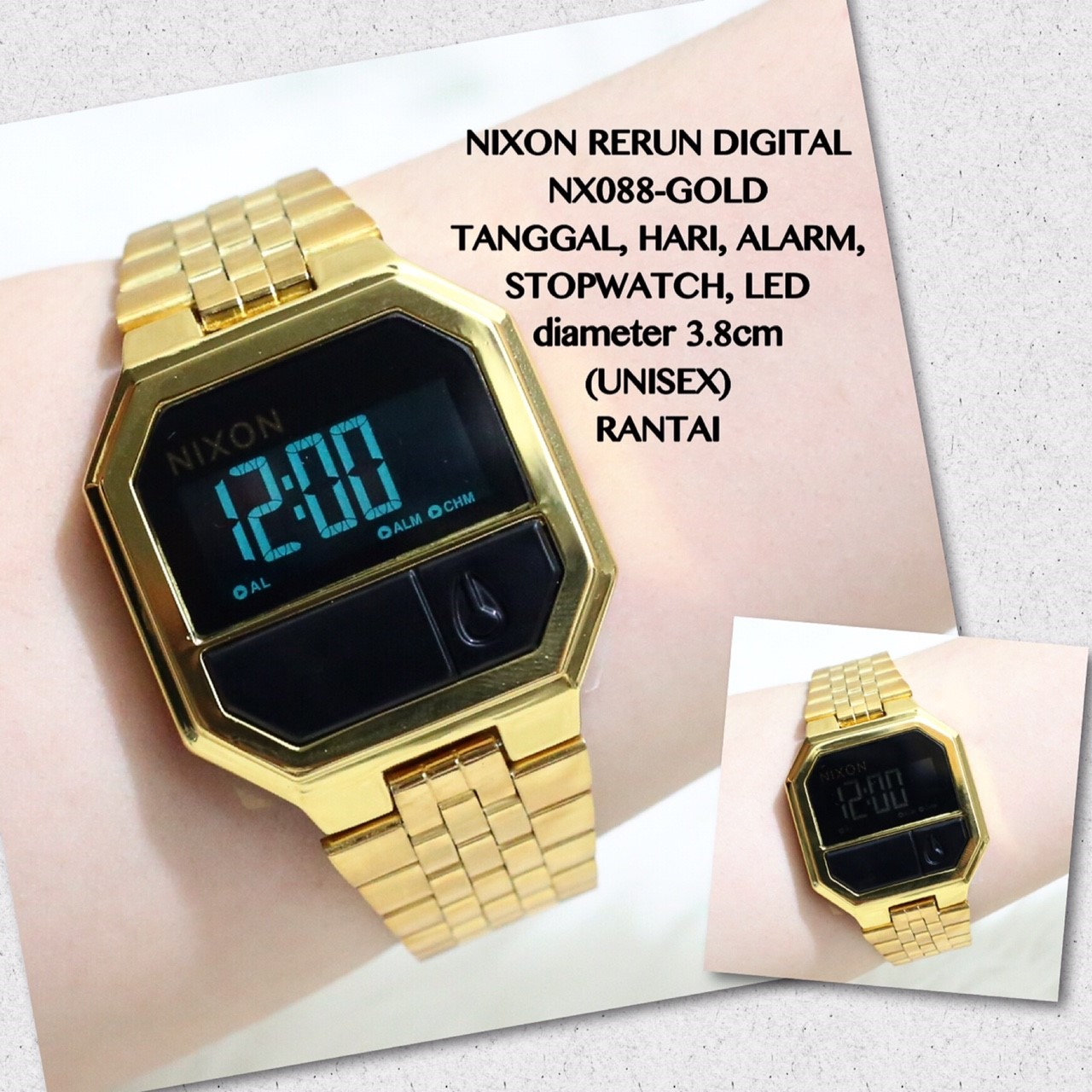 Jam tangan LED NIXON rubber karet sporty grosir supplier termurah