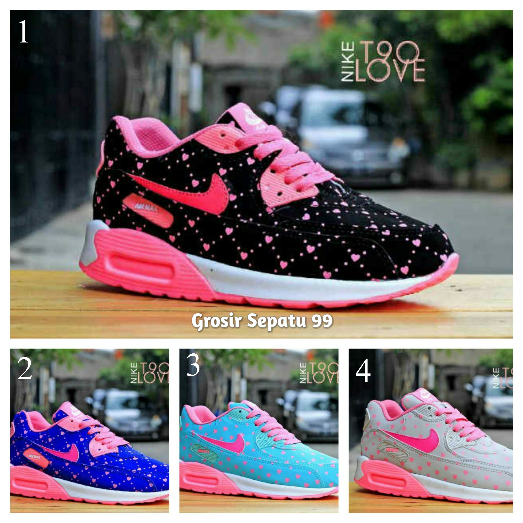 Jual Sepatu Nike Air Max T90 Love Women Untuk Wanita dan Anak Murah Grosir  - Grosir Sepatu 99  6668d04875