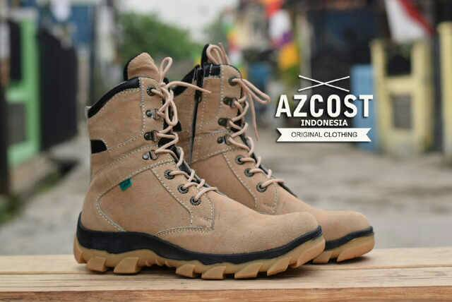 sepatu boot safety azcost delta sleting cream Murah