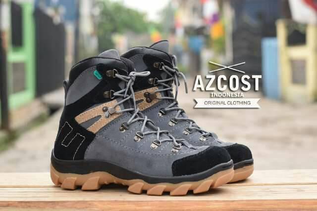 sepatu boot safety azcost aviator dark grey Murah