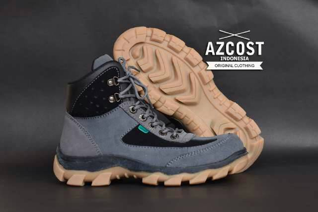 sepatu boot safety azcost tracking grey Murah