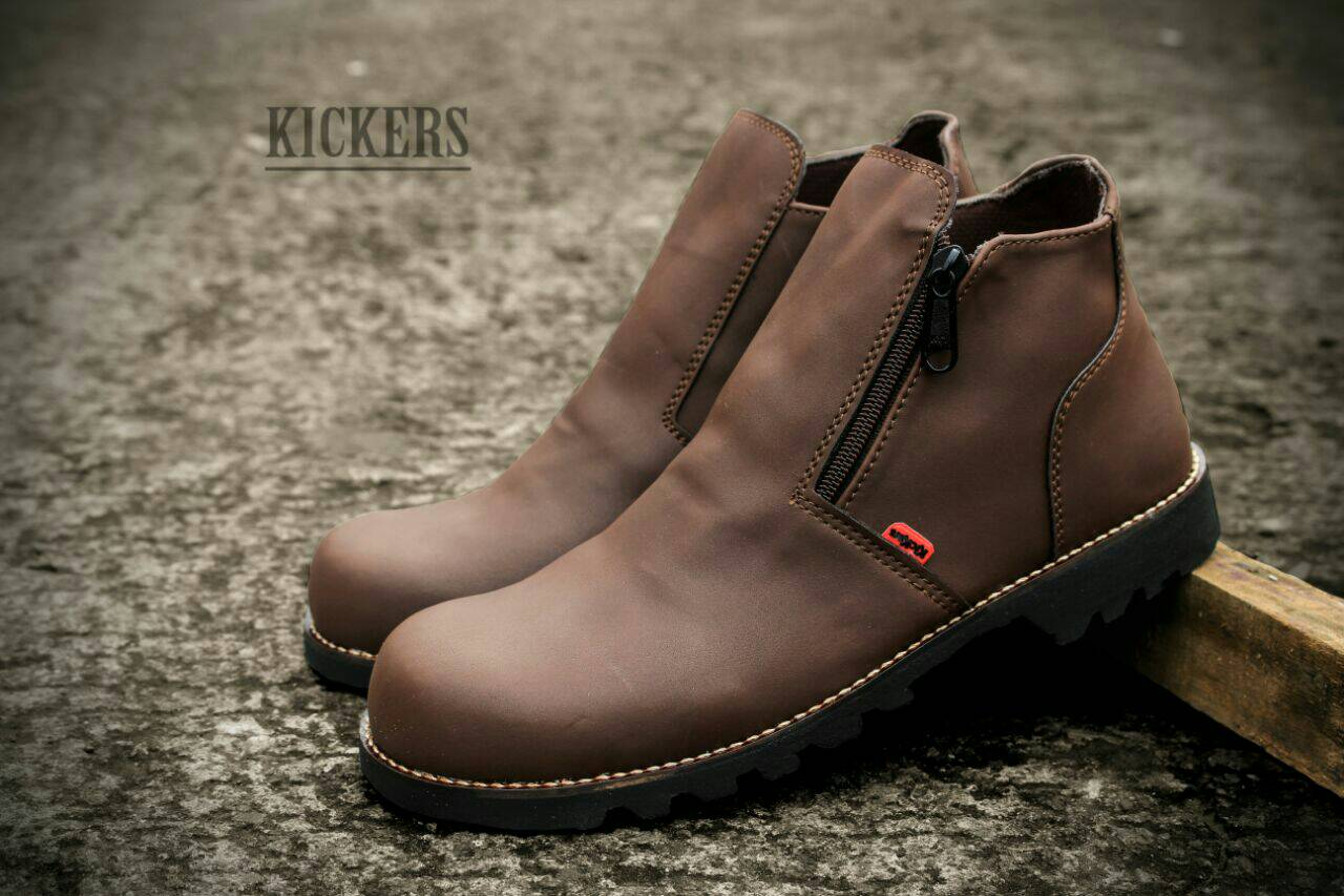 kickers sleting boot safety coklat Murah