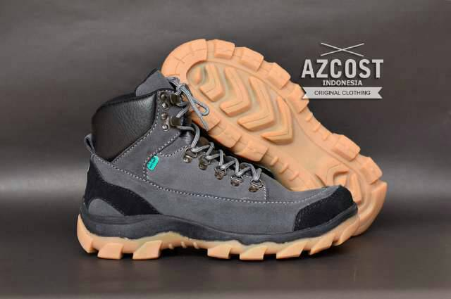 sepatu boot safety azcost hiking grey Murah