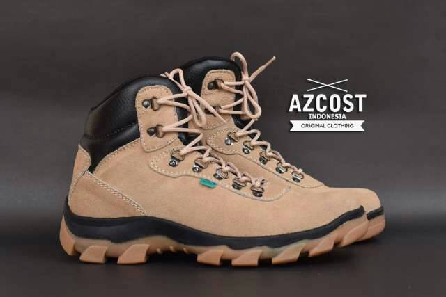 sepatu boot safety azcost hiker cream Murah