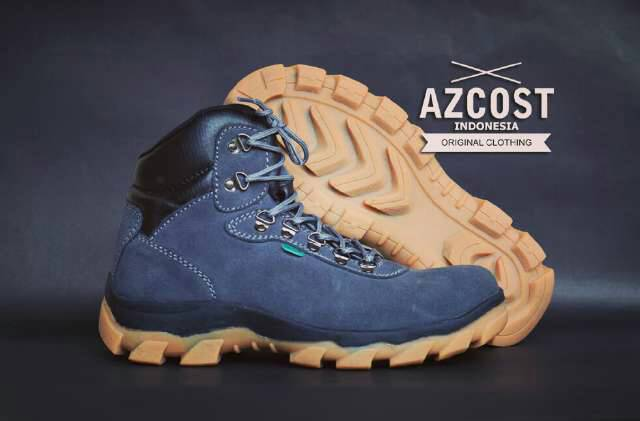 sepatu boot safety azcost hiker grey Murah
