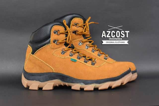 sepatu boot safety azcost hiker tan Murah