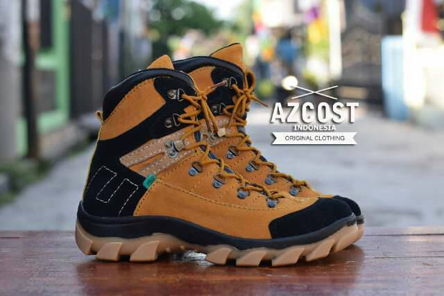 sepatu boot safety azcost aviator tan Murah
