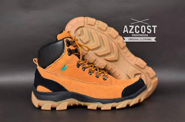 sepatu boot safety azcost hiking tan Murah