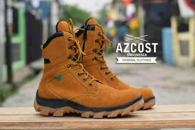 sepatu boot safety azcost delta sleting tan Murah