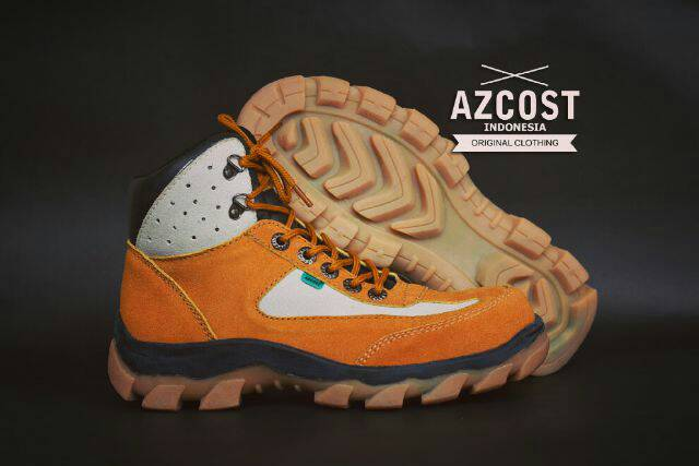 sepatu boot safety azcost tracking tan Murah