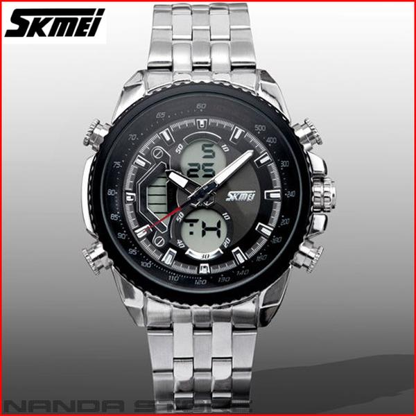 Jam Tangan Pria SKMEI Casual Dual Time Zone Waterproof