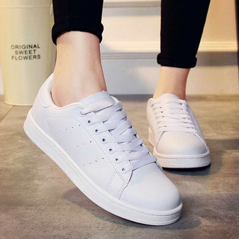 sepatu kets cewek wanita putih korea sneaker sporty murah modis kpop 925bbed193
