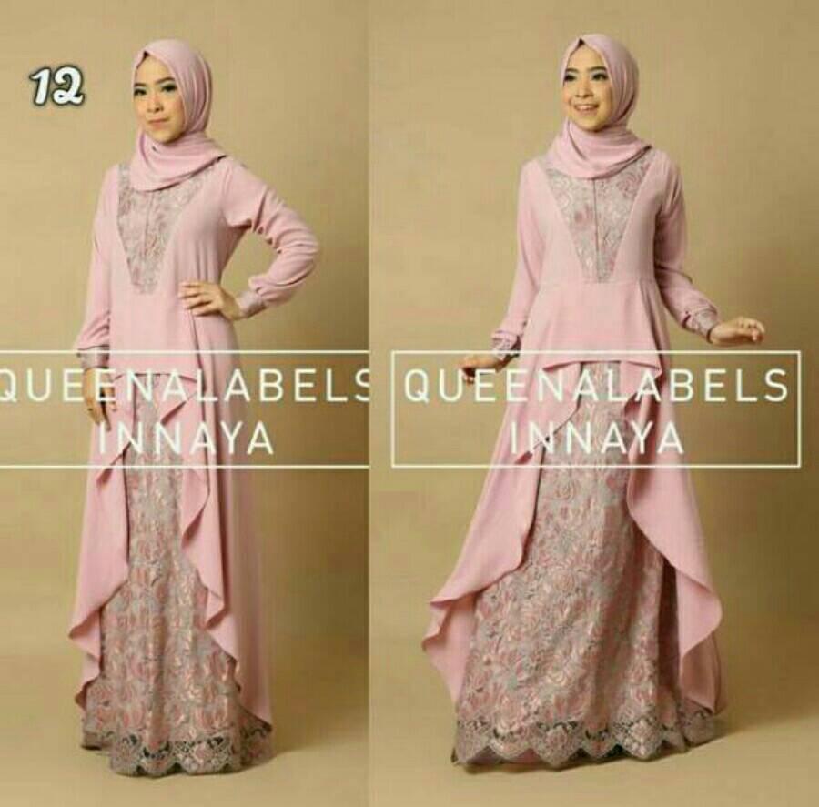 Jual Inayah Set Ori Queenalabels Gamis Busana Muslim Baju Pakaian