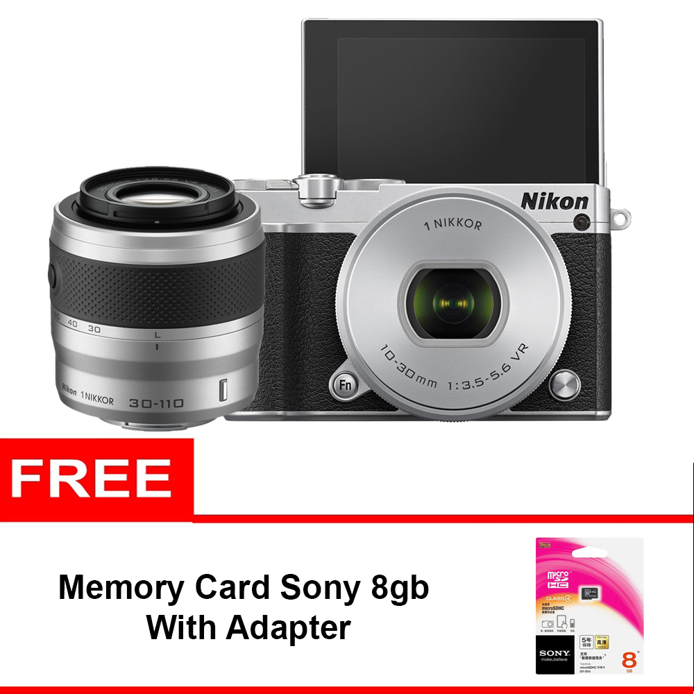 Jual Nikon 1 J5 Double Kit 10 30mm 30 110mm Silver Memory Sony Black 8gb Jakartacamera Tokopedia
