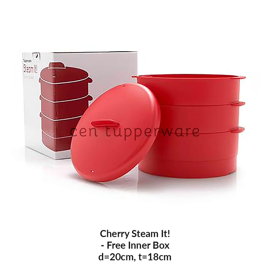 Tupperware Cherry Steam It! (Kukusan 3 Tingkat)